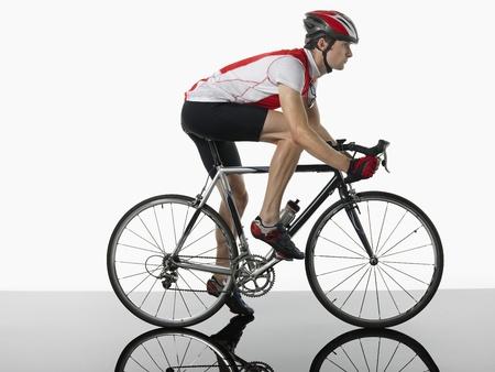 silhouettable: Ciclista maschio