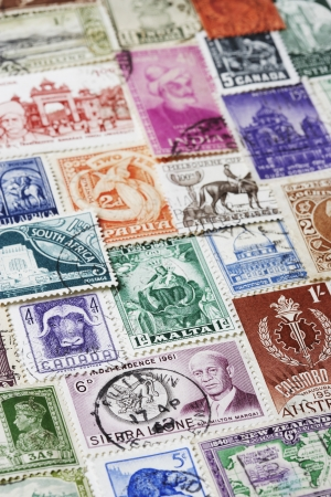 Variety of Postage Stamps Stock Photo - 18896623