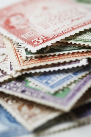 Pile of Postage Stamps Stock Photo - 18896624