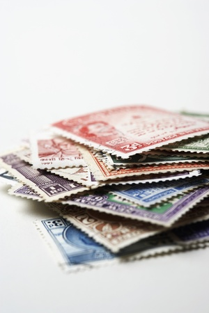 Pile of Postage Stamps Stock Photo - 18896625