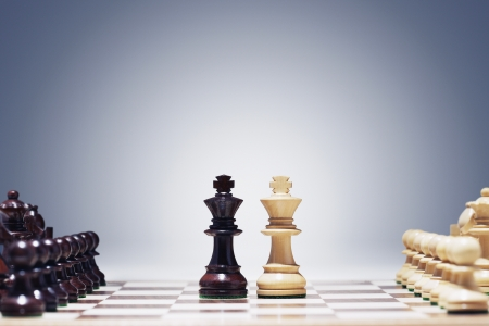 chess pieces: Kings Face to Face