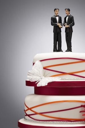 gay men: Estatuillas del novio en el pastel de bodas LANG_EVOIMAGES