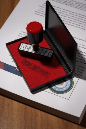 Top Secret Rubber Stamp Stock Photo - 18896713