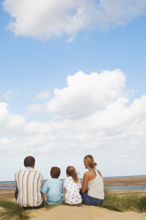 preadolescence: Vacationing Family at Beach LANG_EVOIMAGES