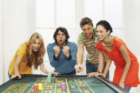 exhilarated: Friends Gambling