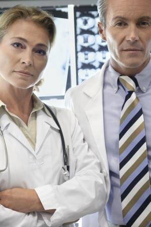Doctors in X-Ray Room Stock Photo - 18896953