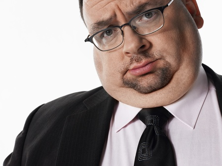 fat person: Overweight Businessman portrait LANG_EVOIMAGES