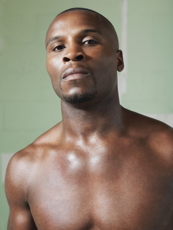 barechested: Bare-chested boxer portrait