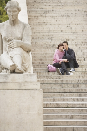 body scape: Couple Sightseeing on Steps