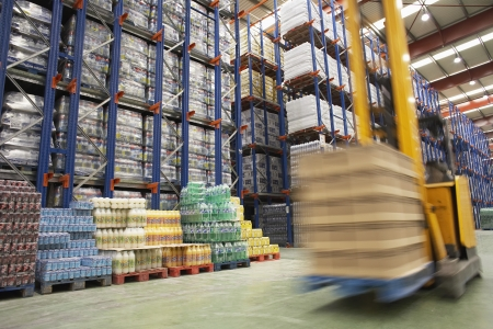 labouring: Speeding Forklift in Warehouse