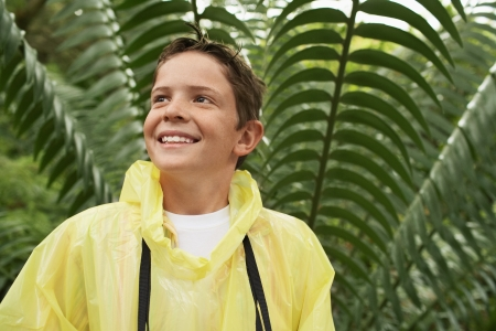 waterproof cape: Boy in Forest LANG_EVOIMAGES