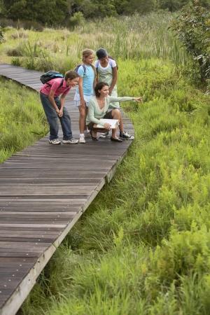 Kinder auf Natur Field Trip Standard-Bild