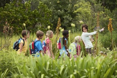 Kinder auf Natur Field Trip