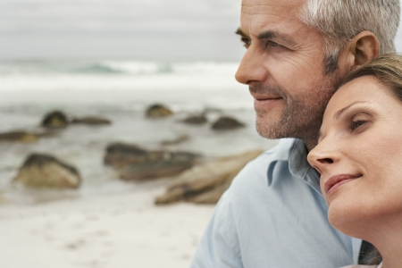 middle age couple: Couple on Beach