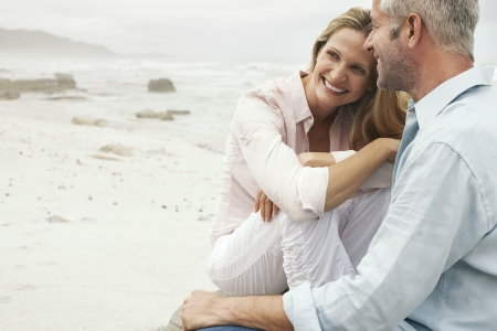 mature couple: Couple on Beach