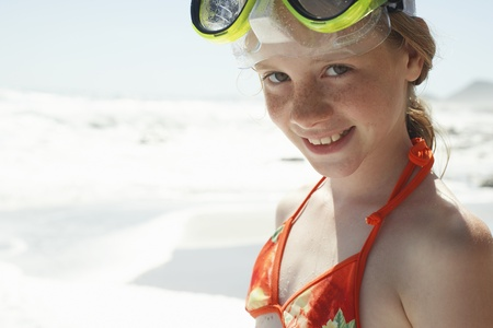 freckled: Pre-teen Girl on Beach