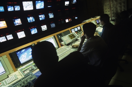 control centre: Control centre of television channel