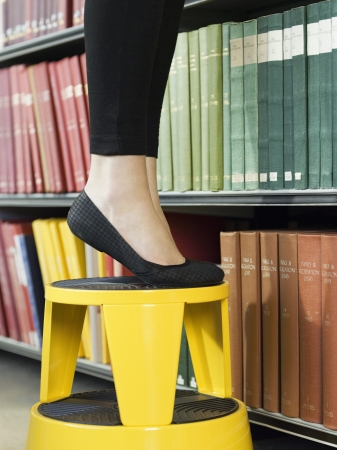 lower section: Student Looking for Book in Library