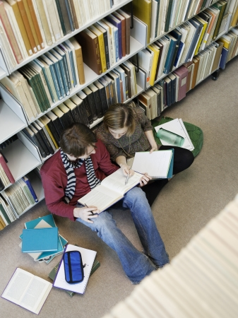 teammate: Students Studying in Library LANG_EVOIMAGES