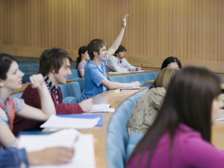 raise your hand: Students in Classroom