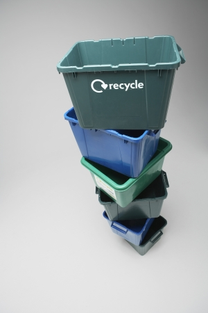 political and social issues: Recycling Bins LANG_EVOIMAGES