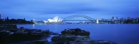 port jackson: Sydney Harbor Bridge and Opera House