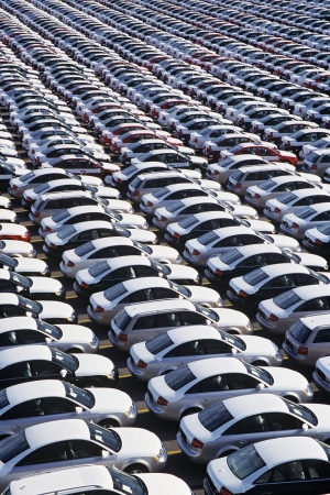 Rows of Cars Stock Photo - 19546444