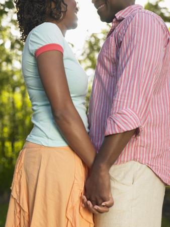 Loving Couple Outdoors Stock Photo