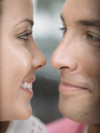 ethnic mixes: Young Couple Face to Face