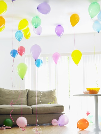 Living room full of balloons Stock Photo - 19465782