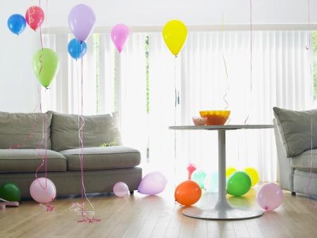 Living room full of balloons Stock Photo - 19522421