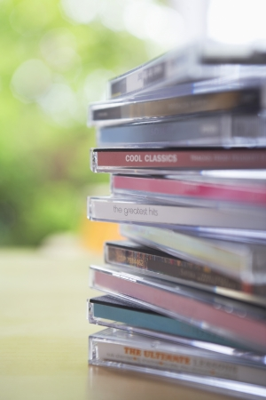cds: Stack of CDs