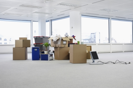 relocating: Moving Supplies in Empty Office