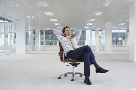 bussinessman: Businessman in Empty Office