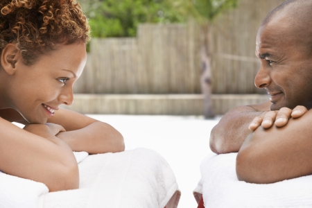 ethnic mixes: Couple Relaxing at a Spa