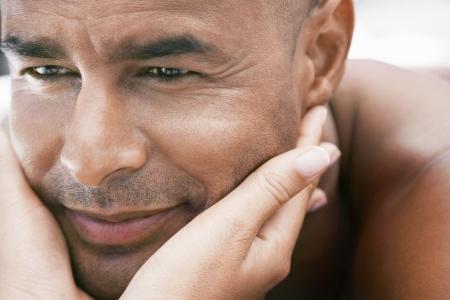 ethnic mixes: Man Getting Facial Massage