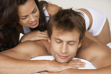 late thirties: Young Couple in Bed