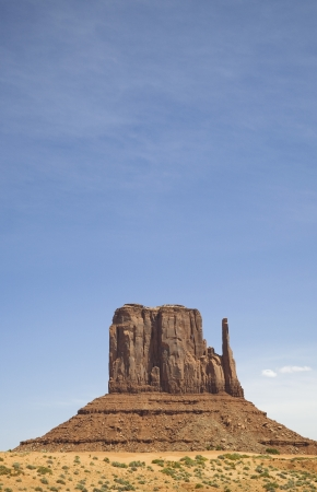 butte: USA Arizona Mitten Butte at Monument Valley LANG_EVOIMAGES