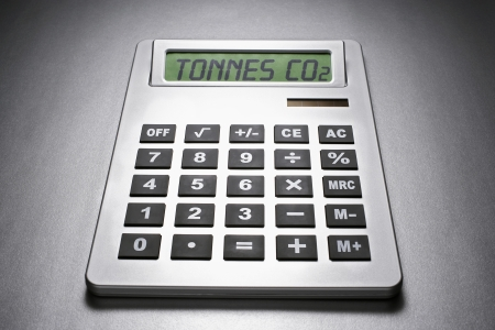 Calculator informing about carbon dioxide concentration Stock Photo - 19078814