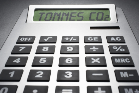 Calculator informing about carbon dioxide concentration Stock Photo - 19078815