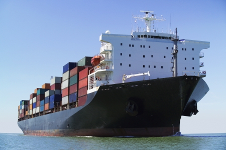 Container ship on ocean Stock Photo - 19078984
