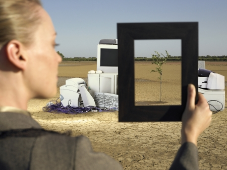 landfills: Woman in Landfill