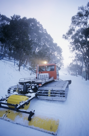 snow clearing: Snow clearing tractor Mt. Baw Baw Victoria Australia LANG_EVOIMAGES