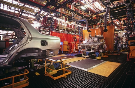 14890051,Day,Indoors,Transportation,Nobody,colour,Car,Technology,Automobile,Industry,Manufacturing,Factory,Process,Engineering,Automobile Industry,Assembly line,Automobile assembling,Automobile factory,production line,No People,Car Bodywork , Stock Photo - 20714052