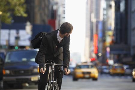 通りに人乗り自転車 写真素材 - 20714355