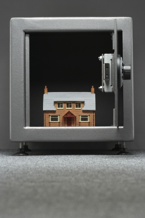 Model house in safe Stock Photo - 20714463