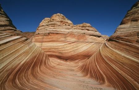 paria: USA Arizona Paria Canyon-Vermilion Cliffs Wilderness The Wave sandstone rock formation