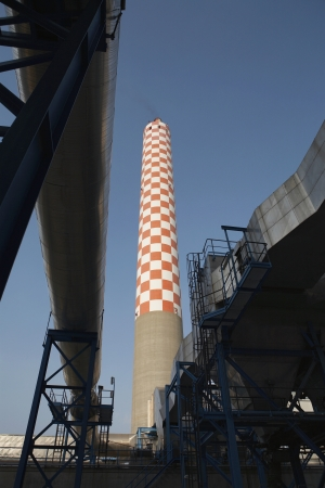 Oil fired power station main flue taking waste gases to chimney Stock Photo - 20715226
