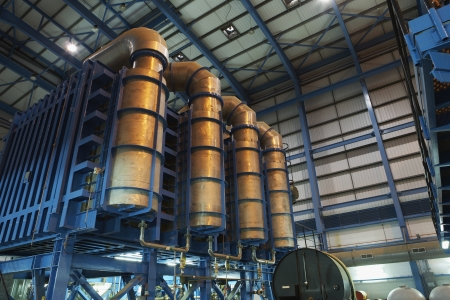 desalination: Desalination plant of oil fired power station