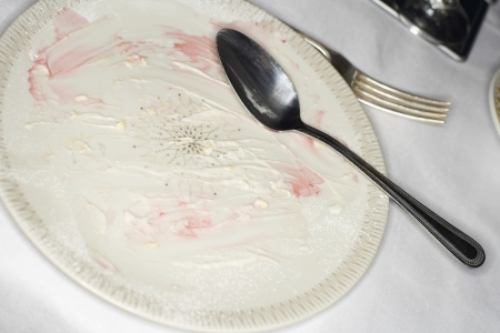 filthiness: Dirty Plate and Silverware